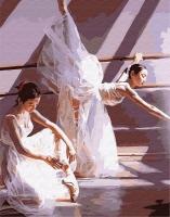 Картина по номерам 40*50 см, Жизнь балерин