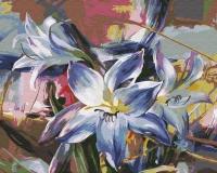 Картина по номерам 40*50 см, Голубая лилия