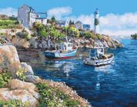 Картина по номерам 40*50 см, Стоянка у бухты