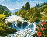 Картина по номерам 40*50 см, Водопад