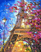 Картина по номерам 40*50 см, Краски весенненого Парижа