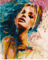 Картина по номерам 40*50 см, Чувственность красок