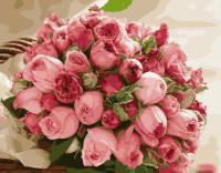 Картина по номерам 40*50 см, Букет из роз