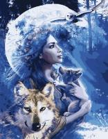 Картина по номерам 40*50 см, Волчица