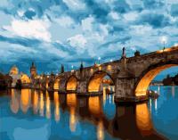 Картина по номерам 40*50 см, Прага. Карлов мост