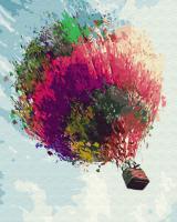 Картина по номерам 40*50 см, Красочный шар