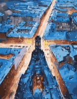 Картина по номерам 40*50 см, Пять углов. Санкт-Петербург