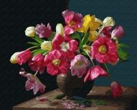Картина по номерам 40*50 см, Весенние цветы