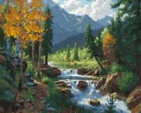 Картина по номерам 40*50 см, Горный пейзаж