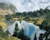 Картина по номерам 40*50 см, Озеро Кёль Сай