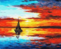 Картина по номерам 40*50 см, Радужный закат