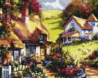 Картина по номерам 40*50 см, Английская деревушка