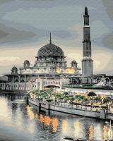 Картина по номерам 40*50 см, Тюльпанная мечеть