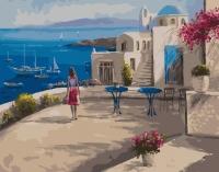 Картина по номерам 40*50 см, Греческий пейзаж