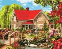 Картина по номерам 40*50 см, Красный дом