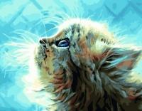 Картина по номерам 40*50 см, Солнечный котенок