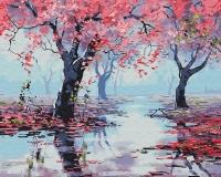 Картина по номерам 40*50 см, Весна в розовых тонах