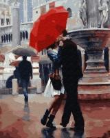 Картина по номерам 40*50 см, Влюбленная пара