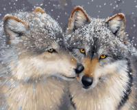 Картина по номерам 40*50 см, Волчья любовь