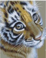 Картина по номерам 40*50 см, Очаровательный тигренок