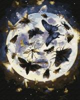 Картина по номерам 40*50 см, Лунные бабочки