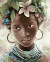 Картина по номерам 40*50 см, Африканские украшения