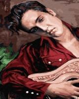 Картина по номерам 40*50 см, Элвис Прэсли с гитарой