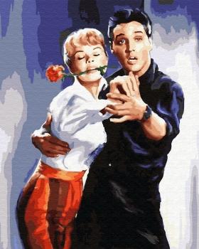 Картина по номерам 40*50 см, Лорель Гудвин и Элвис Прэсли