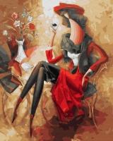 Картина по номерам 40*50 см, Абстрактная женщина